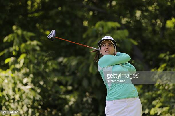Mariajo Uribe of Columbia hits her tee shot on the sixth hole during the third round of the Kingsmill Championship presented by JTBC on the River...