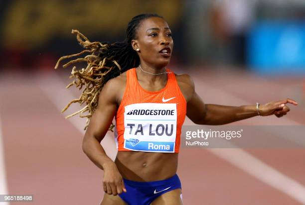 Maria-Josee Ta Lou competes in 200m women during Golden Gala Iaaf Diamond League Rome 2018 at Olimpico Stadium in Rome, Italy on May 31, 2018.