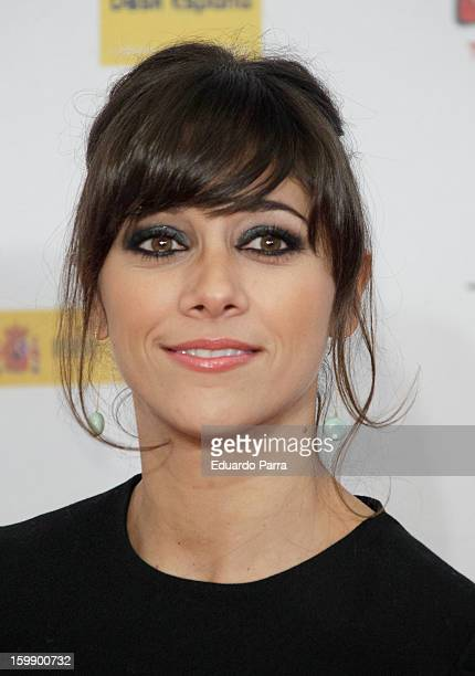 Mariam Aguilera attends Jose Maria Forque awards photocall at Canal theatre on January 22 2013 in Madrid Spain