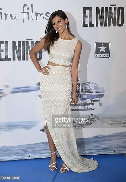 Mariam Bachir attends the premiere of 'El Nino' at Kinepolis Cinema on August 28 2014 in Madrid Spain