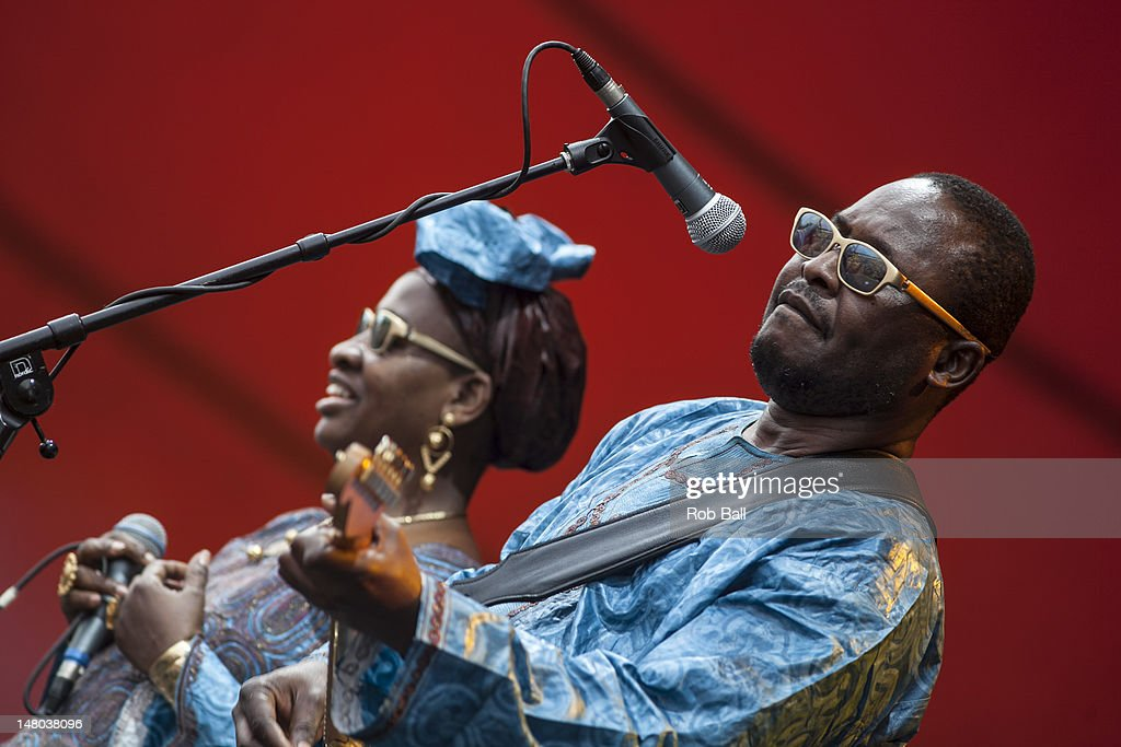 Mariam Doumbia and Amadou Bagayoko perform as Amadou & Mariam on day four of Roskilde Festival on July 8, 2012 in Roskilde, Denmark.
