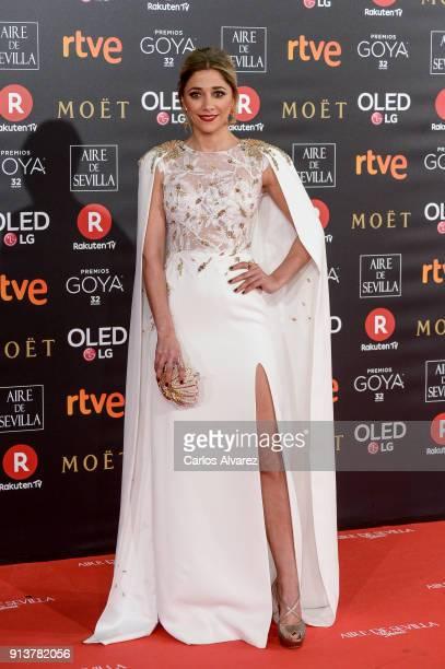 Mariam Hernandez attends Goya Cinema Awards 2018 at Madrid Marriott Auditorium on February 3 2018 in Madrid Spain