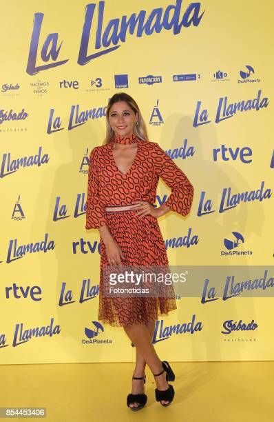 Mariam Hernandez attends the 'La Llamada' premiere yellow carpet at the Capitol cinema on September 26 2017 in Madrid Spain