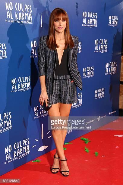 Mariam Hernandez attends the 'No Culpes al Karma De lo Que Te Pasa Por Gilipollas' Madrid premiere at Capitol cinema on November 8 2016 in Madrid...