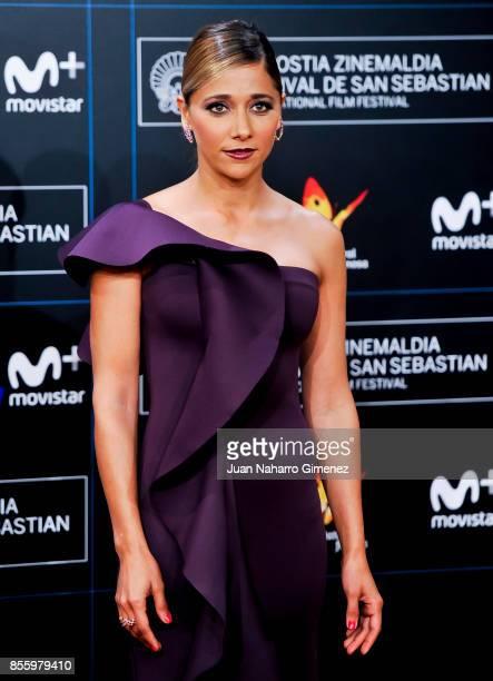 Mariam Hernandez attends the red carpet of the closure gala during 65th San Sebastian Film Festival at Kursaal on September 30 2017 in San Sebastian...