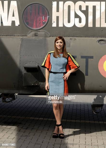 Mariam Hernandez attends 'Zona Hostil' photocall at the FAMET Military Base on March 6 2017 in Colmenar Viejo Spain