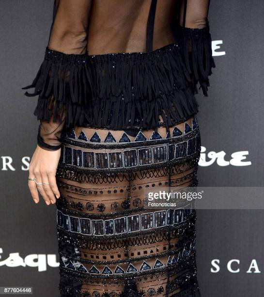 Mariam Hernandez dress detail attends Esquire and Scalpers 10th anniversary party at the Palacio de Santa Coloma on November 22 2017 in Madrid Spain