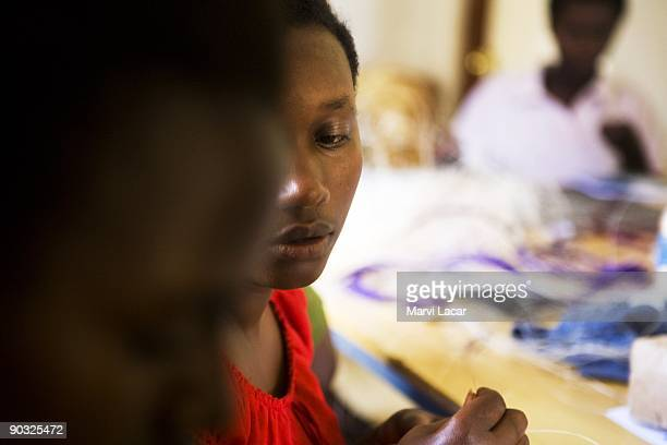 Mariam Ingabire participates in afterschool activities inside the Agahozo Shalom Youth Village on March 12 2009 in Rwamagana Rwanda The ASYV provides...