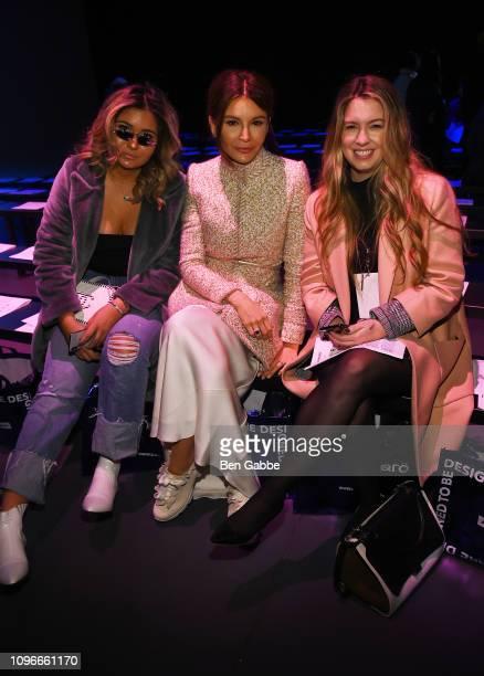 Mariam Tillyaeva Lola KarimovaTillyaeva and Cara Gibbs attend the Flying Solo front row during NYFW February 2019 at Pier 59 on February 9 2019 in...
