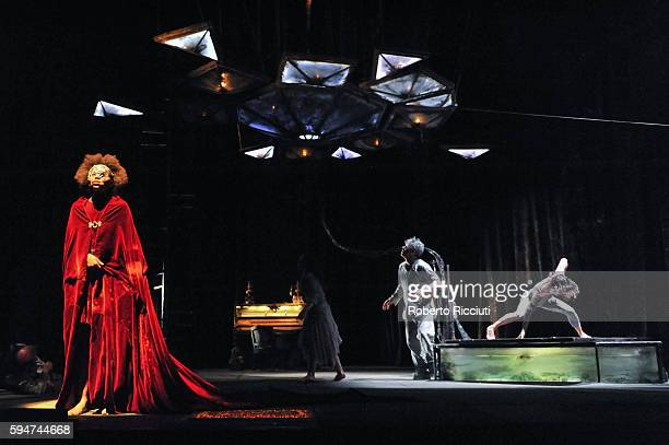 Mariama of Compagnie du Hanneton performs on stage 'The Toad Knew' during the Edinburgh International Festival at King's Theatre on August 24 2016 in...