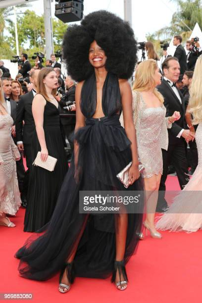Mariame Sakanoko attends the screening of The Wild Pear Tree during the 71st annual Cannes Film Festival at Palais des Festivals on May 18 2018 in...