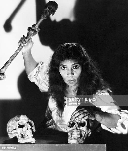 Marian Anderson as Ulrica in the Verdi opera Un ballo in maschera.