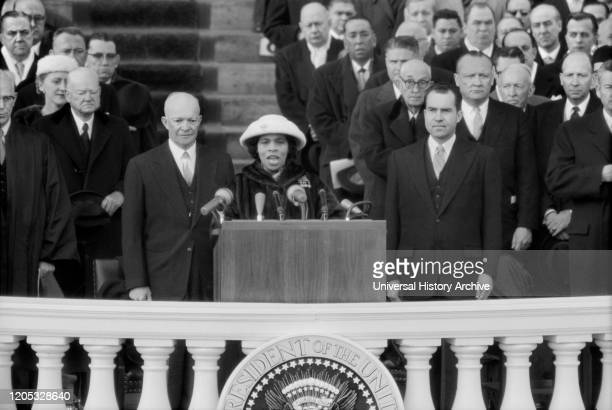Marian Anderson performing at during Inauguration of U.S. President Dwight Eisenhower and Vice President Richard Nixon, Washington, D.C., USA,...