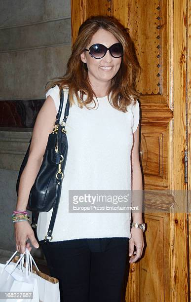 Marian Camino atttends the babyshower party of Silvia Casas on April 18 2013 in Madrid Spain
