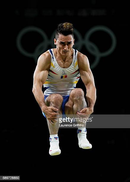 Marian Dragulescu of Romania competes in the Men's Vault Final on day 10 of the Rio 2016 Olympic Games at Rio Olympic Arena on August 15 2016 in Rio...