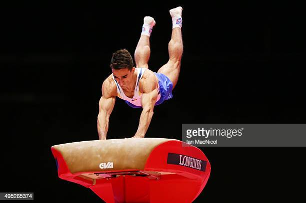 Marian Dragulescu of Romania competes on the vault during day ten of The World Artistic Gymnastics Championships at The SSE Hydro on November 01 2015...