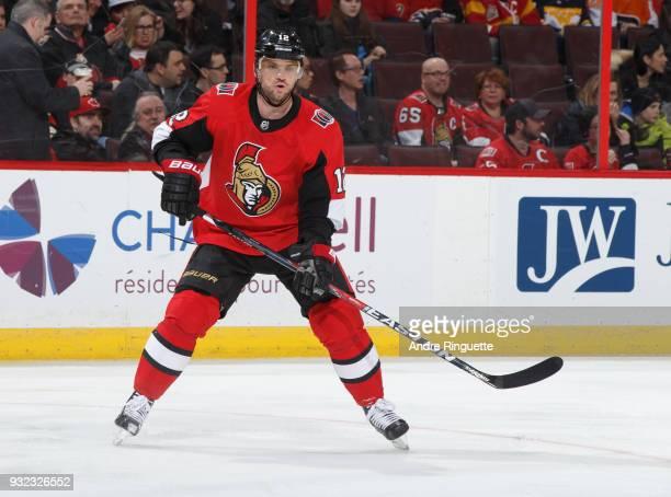 Marian Gaborik of the Ottawa Senators skates against the Calgary Flames at Canadian Tire Centre on March 9 2018 in Ottawa Ontario Canada