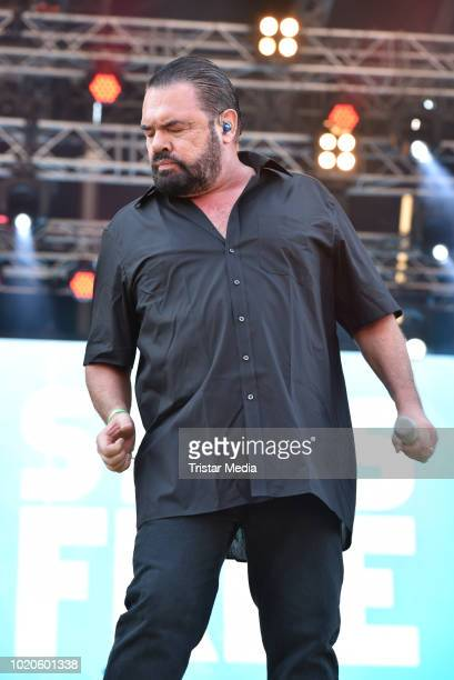 Marian Gold of the band Alphaville performs the Radio Brocken Stars for free open air festival on August 18 2018 in Magdeburg Germany