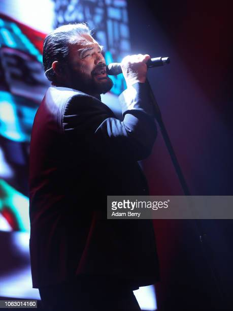 Marian Gold performs with Alphaville as the support act for Gloria Gaynor during a concert at Verti Music Hall on November 17 2018 in Berlin Germany
