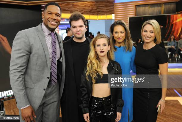 """Marian Hill perform live on """"Good Morning America,"""" Friday, April 7, 2017 airing on the Walt Disney Television via Getty Images Television Network...."""