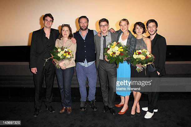 Marian Kindermann, Petra Müller, Sascha, Stefan Ruppe, Lisa Bitter, Lucie Heinze, Martin Aselmann attend the 'Das Hochzeitsvideo' World Premiere at...