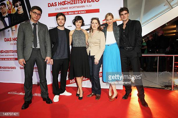 Marian Kindermann Stefan Ruppe Lucie Heinze Petra Müller Lisa Bitter Martin Aselmann attends the 'Das Hochzeitsvideo' World Premiere at Cinedome...