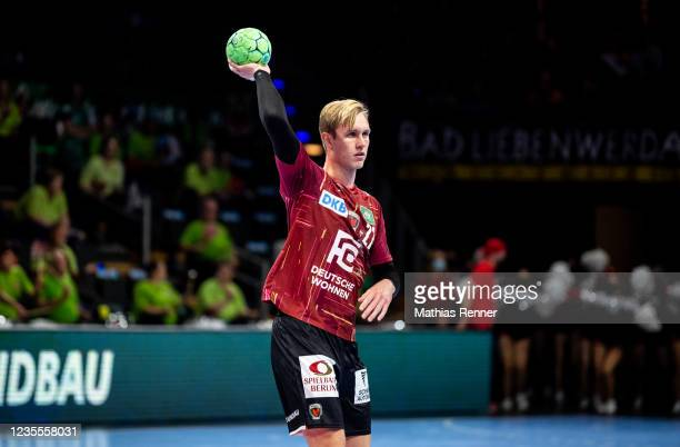 Marian Michalczik of Fuechse Berlin during the EHF Handball European League match between Fuechse Berlin and KS Azoty-Pulawy at Max-Schmeling Halle...