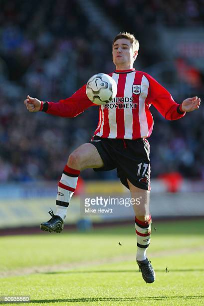 Marian Pahars of Southampton during the FA Barclaycard Premiership match between Southampton and Fulham at St Mary's Stadium on February 7 2004 in...