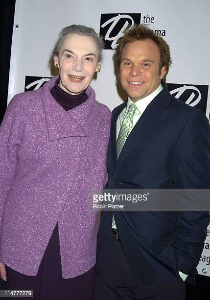 Marian Seldes and Norbert Leo Butz during The 71st Annual Drama League Awards Arrivals at Marriott Marquis Hotel in New York City New York United...