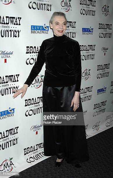 Marian Seldes during Country Takes New York City - Broadway Meets Country - Outside Arrivals at Allen Room, Jazz at Lincoln Center in New York City,...