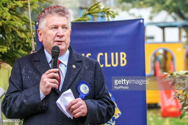 Marian Sienkowski Lions Club Gedania Gdansk president is seen in Gdansk Poland on 21 October 2017 Lions Club Gdansk Gedania and Lions Clubs...