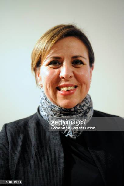 Mariana Aymerich director of Festival Internacional Cervantino attends the presentation of the guest country and state to the 48th Cervantino...