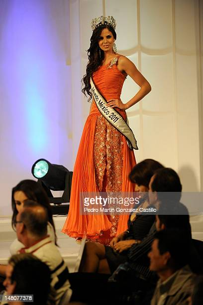 Mariana Berumen winner of Our Beauty of Guanajuato 2011 contest walks the runway during the contest Our Beauty of Guanajuato 2012on July 06 in Leon...