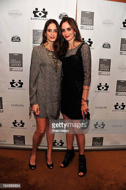 Mariana Bittencourt and Carolina Bittencourt attend the 8th annual Brazil Foundation Gala after party at the Boom Boom Room on September 23 2010 in...