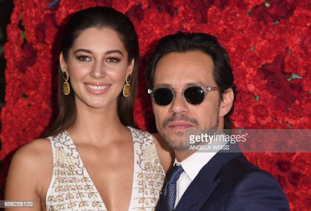 Mariana Downing and Marc Anthony attend the Maestro Cares Foundation's 4th annual 'Changing Lives/Building Dreams' gala at Cipriani Wall Street on...