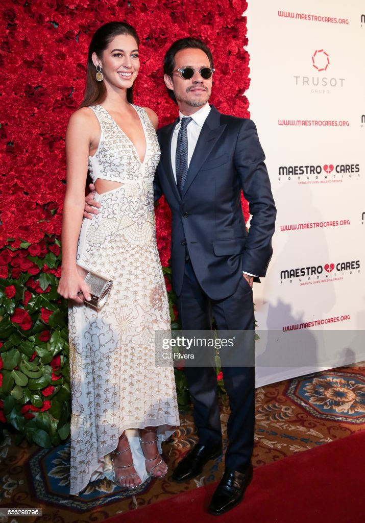 Mariana Downing and Marc Anthony attend the Maestro Cares Foundation's Fourth Annual Changing Lives/Building Dreams Gala at Cipriani Wall Street on March 21, 2017 in New York City.
