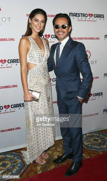 Mariana Downing and singer/songwriter Marc Anthony attend the Maestro Cares Foundation's Fourth Annual Changing Lives/Building Dreams Gala at...