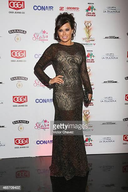 Mariana Echeverria arrives at Premios TV y Novelas 2015 at Televisa San Angel on March 9 2015 in Mexico City Mexico