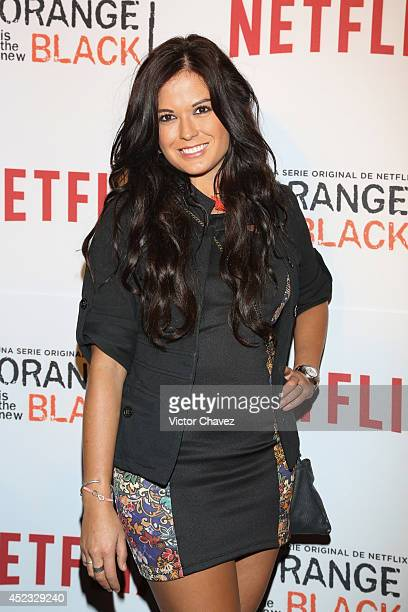 Mariana Echeverria attends the Orange Is The New Black second season red carpet at Fotomuseo Cuatro Caminos on July 17 2014 in Mexico City Mexico