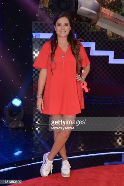 Mariana Echeverria poses for photos during 'Me Caigo de Risa' New Season Presentation at Televisa San Angel on October 14 2019 in Mexico City Mexico