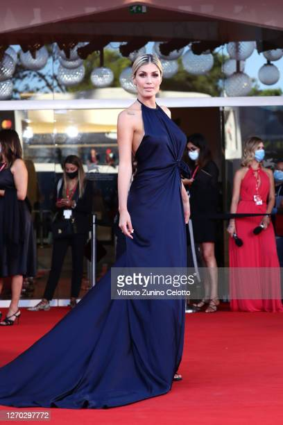 """Mariana Falace walks the red carpet ahead of the Opening Ceremony and the """"Lacci"""" red carpet during the 77th Venice Film Festival at on September 02,..."""