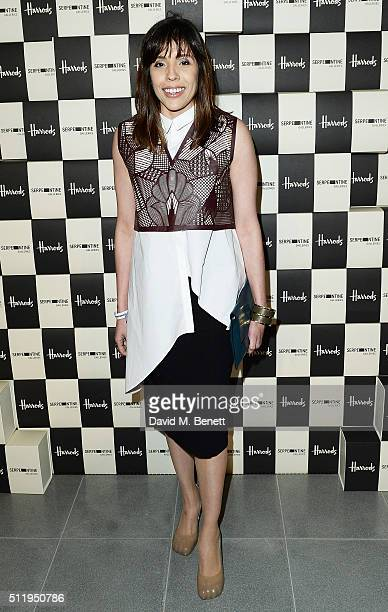 Mariana Jungmann attends the Serpentine Future Contemporaries x Harrods Party 2016 at The Serpentine Sackler Gallery on February 20 2016 in London...
