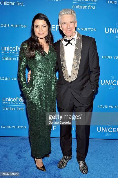 Mariana Teixeira De Carvalho and musician Adam Clayton attend the Sixth Biennial UNICEF Ball Honoring David Beckham and C L Max Nikias presented by...