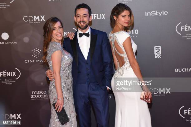 Mariana Trevino Luis Gerardo Mendez Stephanie Cayo is seen arriving at red carpet of Fenix Film Awards on December 06 2017 in México City Mexico