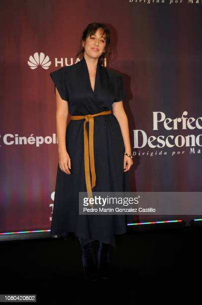 Mariana Treviño poses during a press conference to present the 'Perfect Unknowns' a play directed by Manolo Caro at Four Seasons Hotel on December 10...