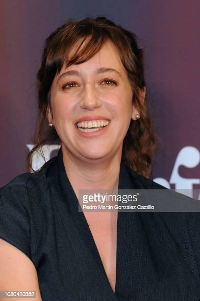 Mariana Treviño smiles during a press conference to present the 'Perfect Unknowns' a play directed by Manolo Caro at Four Seasons Hotel on December...