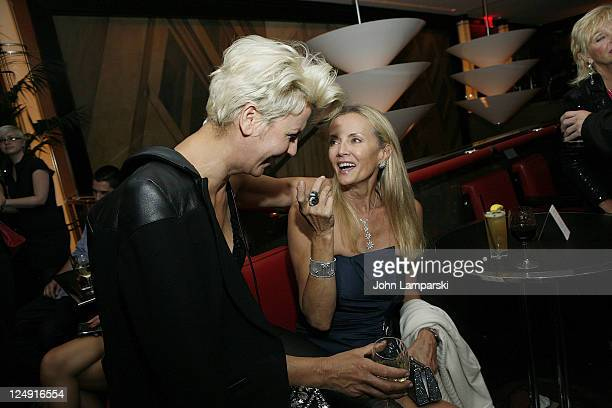 "Mariana Verkerk and Bonnie Pfifer Evens attend the ""Model: The Ugly Business Of Beautiful Women"" re-release party at The Lambs Club on September 13,..."