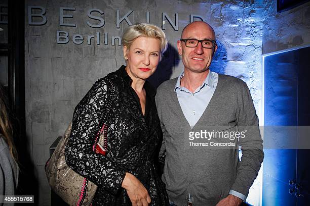 Mariana Verkerk and Christoph Heidt attend Liebeskind Berlin NYC Vernissage Photography Berlin By Sven Marguart Store Party on September 15, 2014 in...