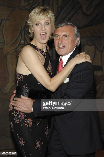 Mariana Verkerk and Julian Niccolini attend THE FOUR SEASONS RESTAURANT 50th Anniversary - INSIDE at The Four Seasons Restaurant on June 11, 2009 in...