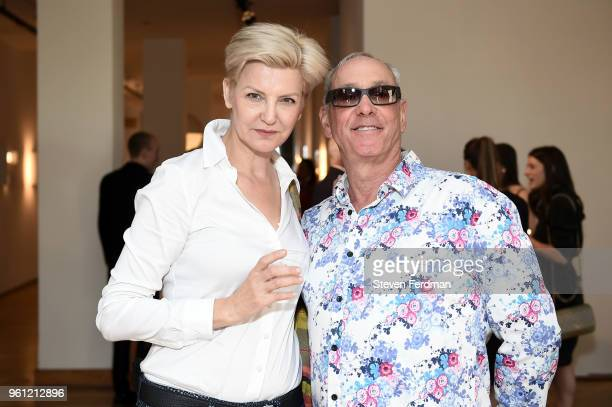 Mariana Verkerk and Michael Katz attend an art opening hosted by Ralph Pucci on May 21, 2018 in New York City.